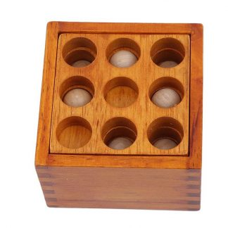 BRAIN TEASER WOODEN BOX