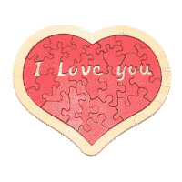 Puzzle coeur I Love You